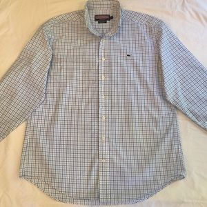 Men's Blue/lt Blue/White Vineyard Vine button down